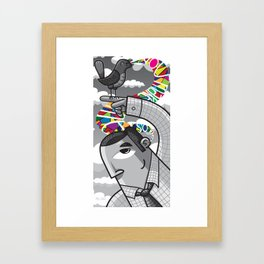 A little birdie told me... Framed Art Print