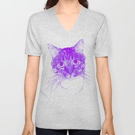 Jazz, drawing, purple Unisex V-Neck