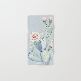 Prettiest Rose Cactus Blue Hand & Bath Towel