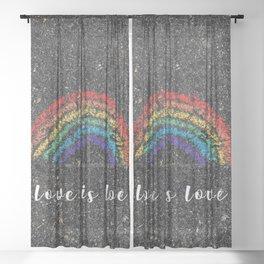 Love is Love Sheer Curtain