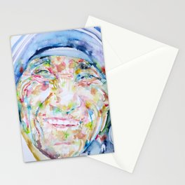 MOTHER TERESA - watercolor portrait Stationery Cards