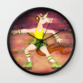 Roller Boogie Unicorn Wall Clock