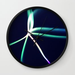 Vibrant Streaks Of Colored Light Abstract Art Wall Clock