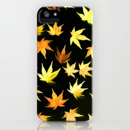 AUTUMN ROMANCE - LEAVES PATTERN #4 #decor #art #society6 iPhone Case