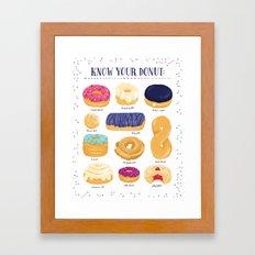 Donut Identification Framed Art Print