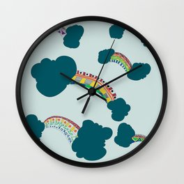 Rainbow in full colours Wall Clock