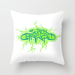 Super Charged High Throw Pillow