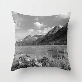 Tern Lake - Mono 2 Throw Pillow