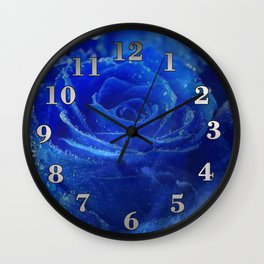 Blue Rose and Sky Wall Clock