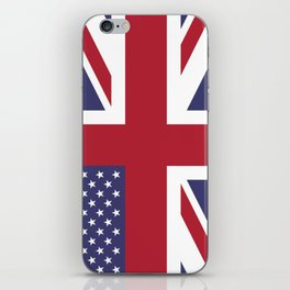 United States and The United Kingdom Flags United Forever iPhone Skin