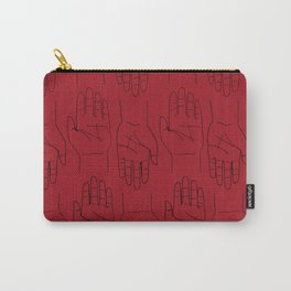 Give Me a Hand! (Red) Carry-All Pouch