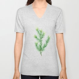 Pine Branch Unisex V-Neck