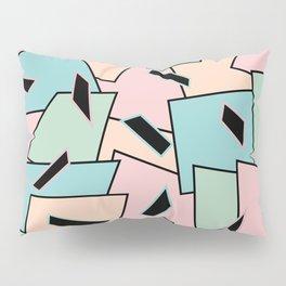 Funky Party Rainbow Colors Memphis 80's Design Pattern Pillow Sham