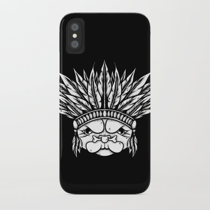 Tribal Pug iPhone Case