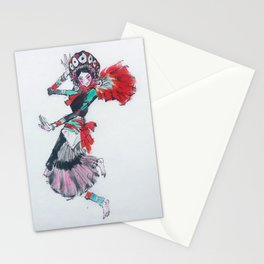 GIRL DANCING Stationery Cards