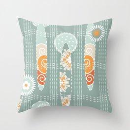Sashiko Boho Sea Glass Throw Pillow