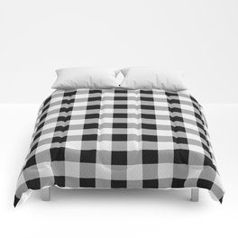 TARTAN GINGHAM CHECKERED GREY / BLACK Comforters