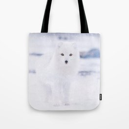 Artic Fox Eyes Tote Bag