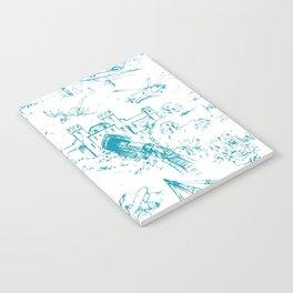 ADVENTURE TOILE BLUE Notebook