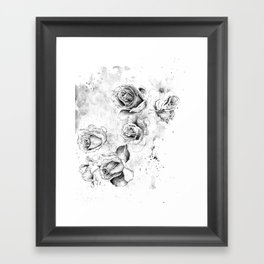 Ink Roses Framed Art Print