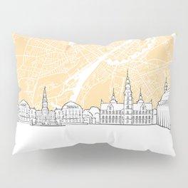 Copenhagen Denmark Skyline Map Pillow Sham