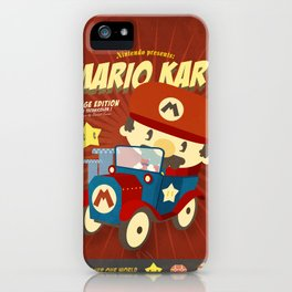 mario kart vintage iPhone Case