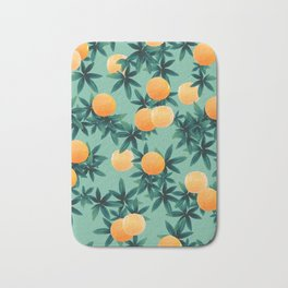 Orange Twist Vibes #1 #tropical #fruit #decor #art #society6 Bath Mat
