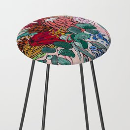 Australian Native Bouquet of Flowers after Matisse Counter Stool