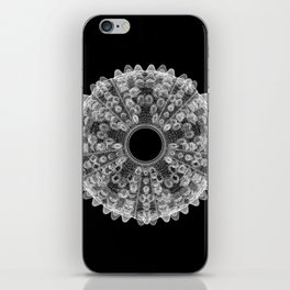 GEOMETRIC NATURE: SEA URCHIN b/w iPhone Skin