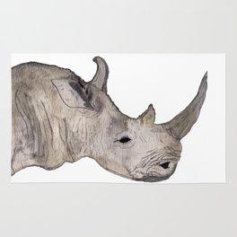 Watercolor Rhino Rug