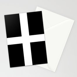 Saint Piran's Flag of Cornwall UK Stationery Cards