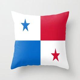flag of panama-Panama,Panamanian,canal,spanish,San Miguelito,Tocumen,latine,central america,panameno Throw Pillow