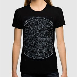 Northern Hemisphere Constellations White Blue T-shirt