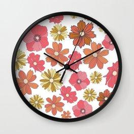 Retro Flora Wall Clock