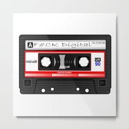 'F#CK Digital' Cassette Metal Print