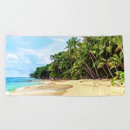 Tropical Beach - Landscape Nature Photography Beach Towel
