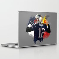 tom selleck Laptop & iPad Skins featuring Tom Brady by J Maldonado