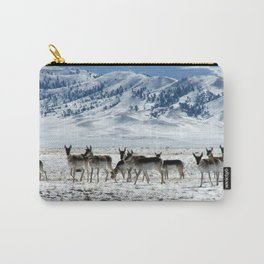 Pronghorns in the Basin Carry-All Pouch