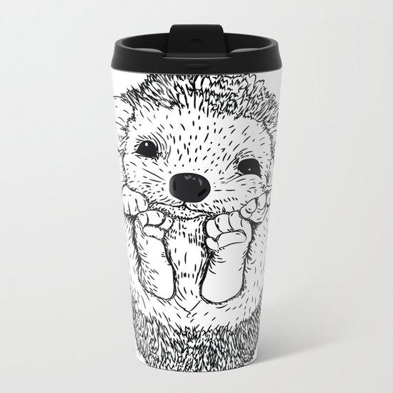 Hedgehog snuggle Metal Travel Mug