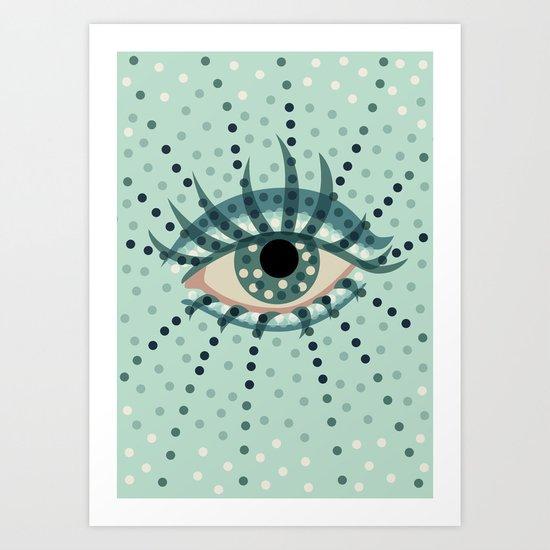 Dots And Abstract Eye Art Print