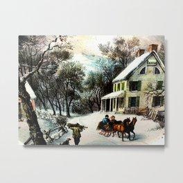 Winter In Old Virginia  Metal Print