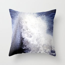 Dragonscale Waves Throw Pillow