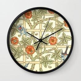 """William Morris """"Trellis"""" Wall Clock"""
