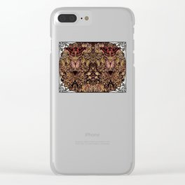 Art Nouveau Honeysuckle and Moths Clear iPhone Case