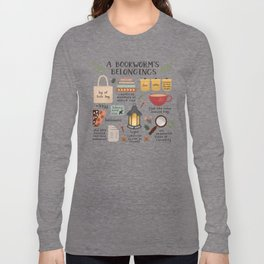A Bookworm's Belongings Long Sleeve T-shirt