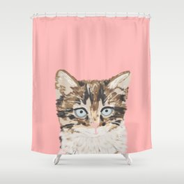 Kitten cutest pastel gift for valentines day cat pet friendly furry friend fur baby kittens animal Shower Curtain