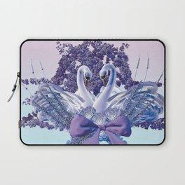 romantic swan couple Laptop Sleeve