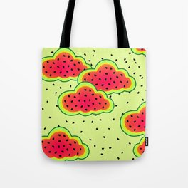 Watermelon Clouds Design Tote Bag
