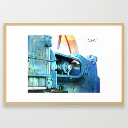 Old Steam Framed Art Print