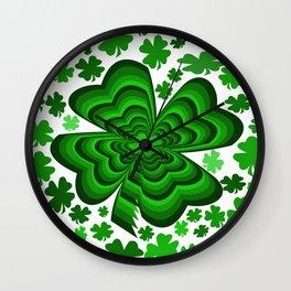 Lucky 4 Leaf Clover Wall Clock